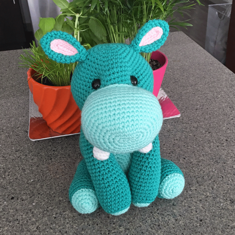 harriet the hippo amigurumi
