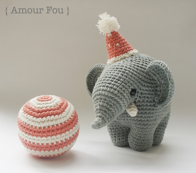 circus elephant amigurumi pattern