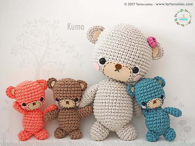 family of bears amigurumi pattern