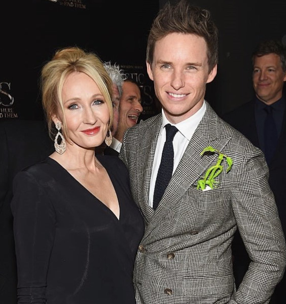 Eddie Redmayne with a bowtruckle