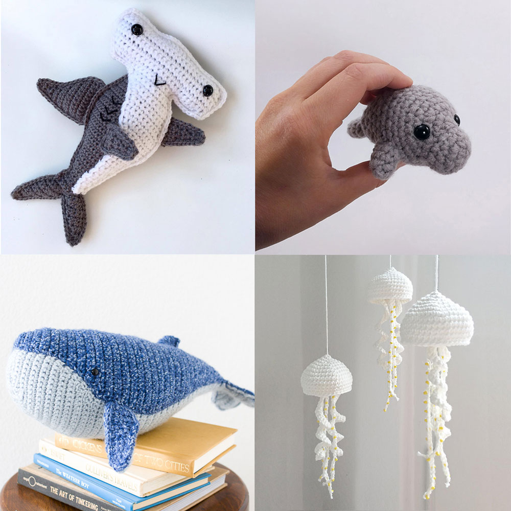 marine animals amigurumi patterns