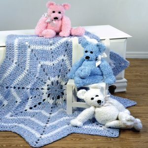merry-go-round blanket and bear