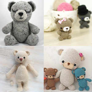 Teddy Bear amigurumi pattern roundup