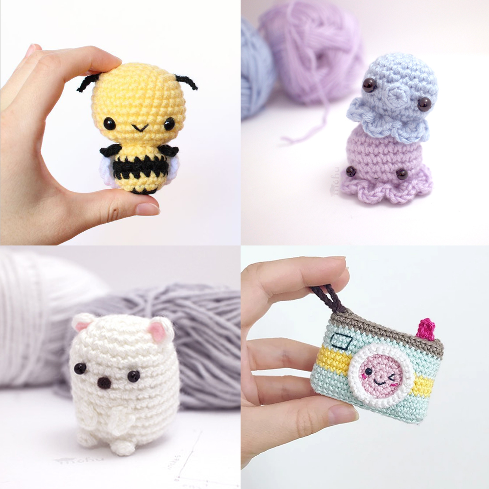 Crochet eBook: 100 Days of Mini Amigurumi VOL 1, PDF Amigurumi ... | 1000x1000