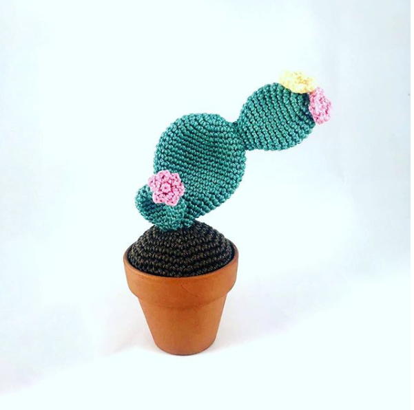 prickly pear cactus free amigurumi pattern