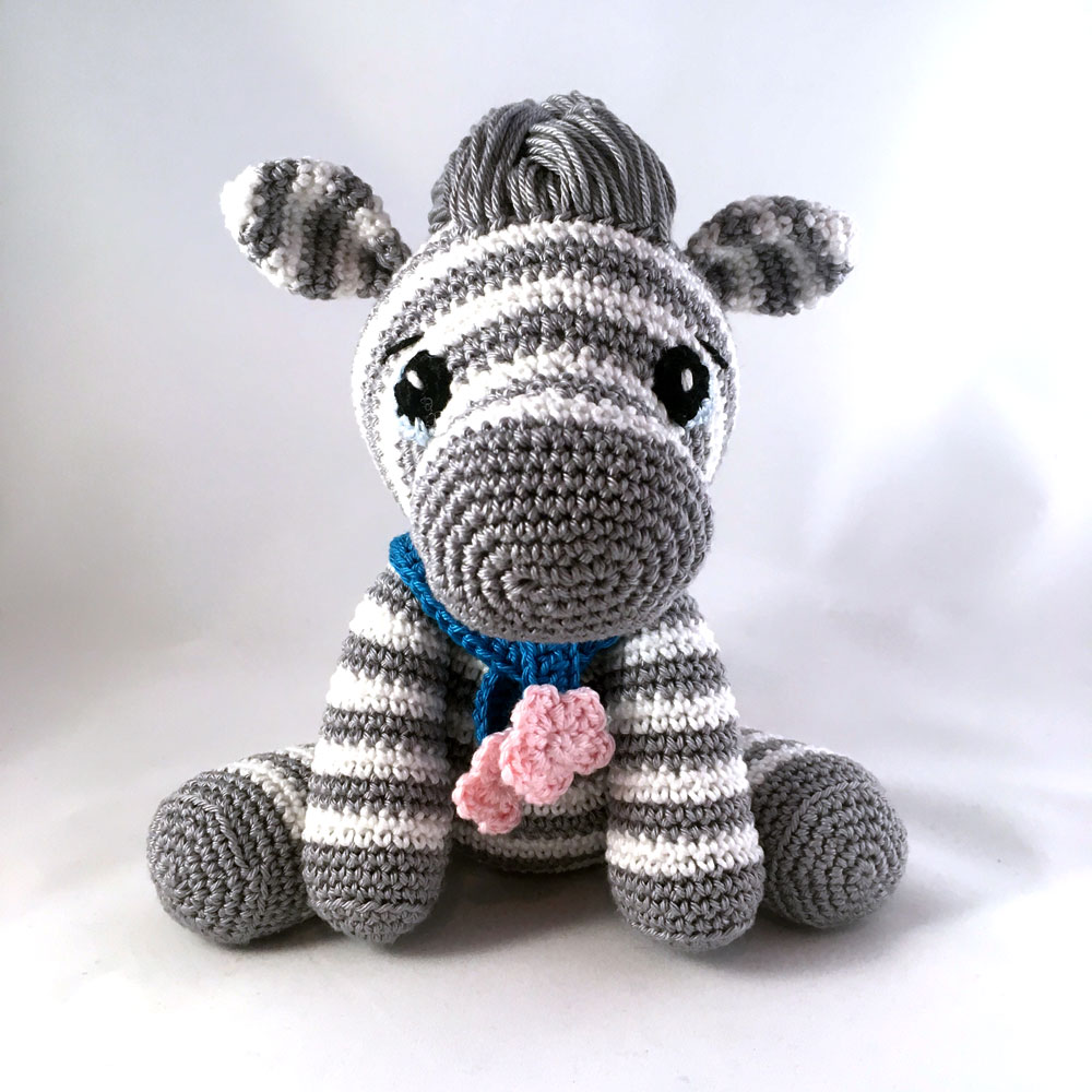 Candy-colored Mia and Sim the Zebra | lilleliis | 1000x1000