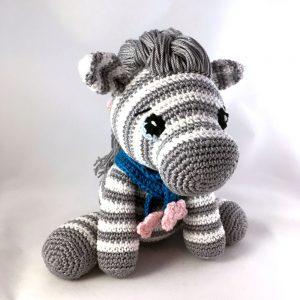 DIY Amigurumi Crochet Kit | Zebra