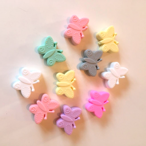 Silicone beads | Butterflies