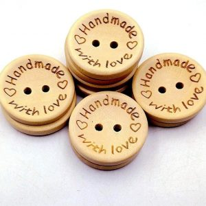 """""""Handmade with love"""" buttons"""