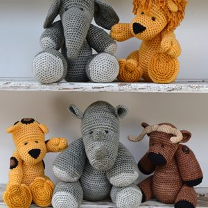 DIY Amigurumi Kit | Big Five African Animals